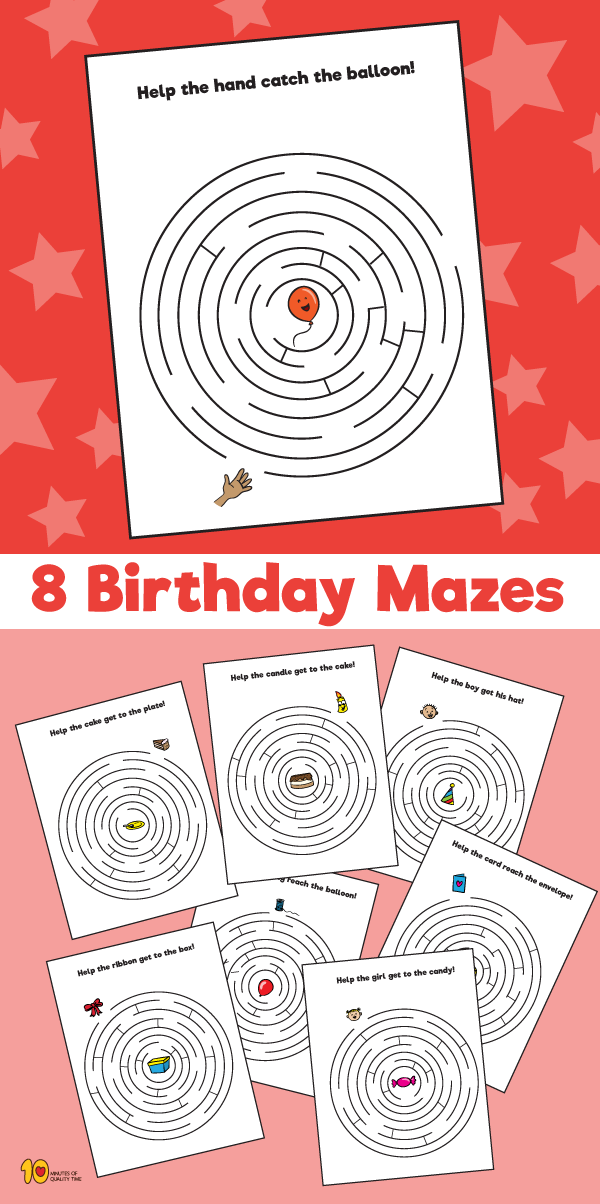 8 Mazes for Birthdays