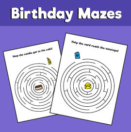 Birthday-maze
