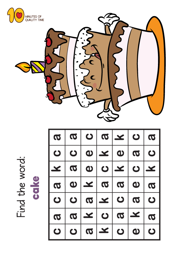 10 Word Search Sheets For Birthdays 10 Minutes Of