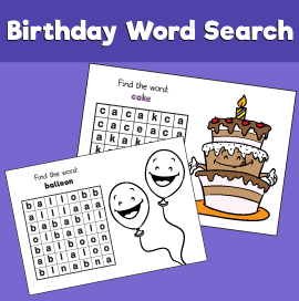 Birthday-word-search
