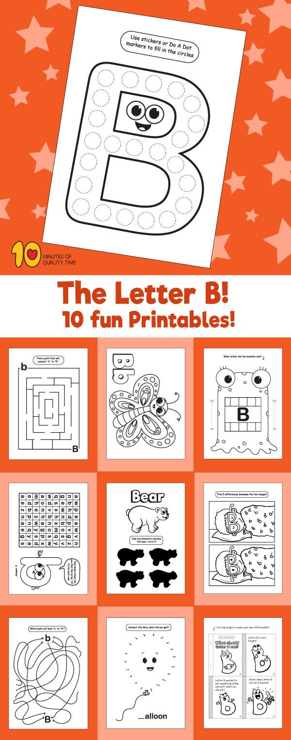 Letter B printable pack