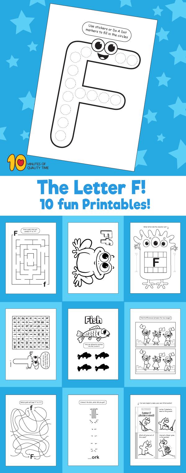 Letter F printable pack