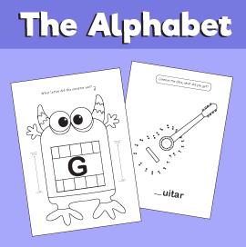 Letter G printable pack