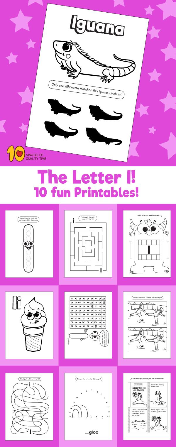 Letter I printable pack