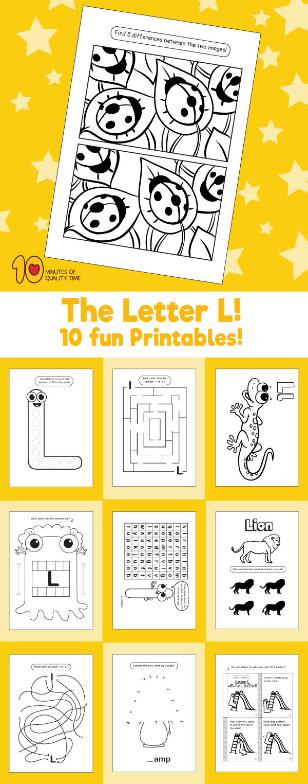 Letter L printable pack