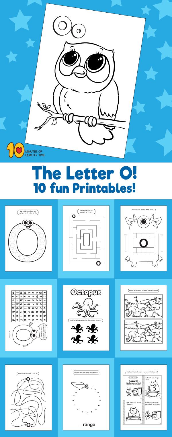 Letter O printable pack