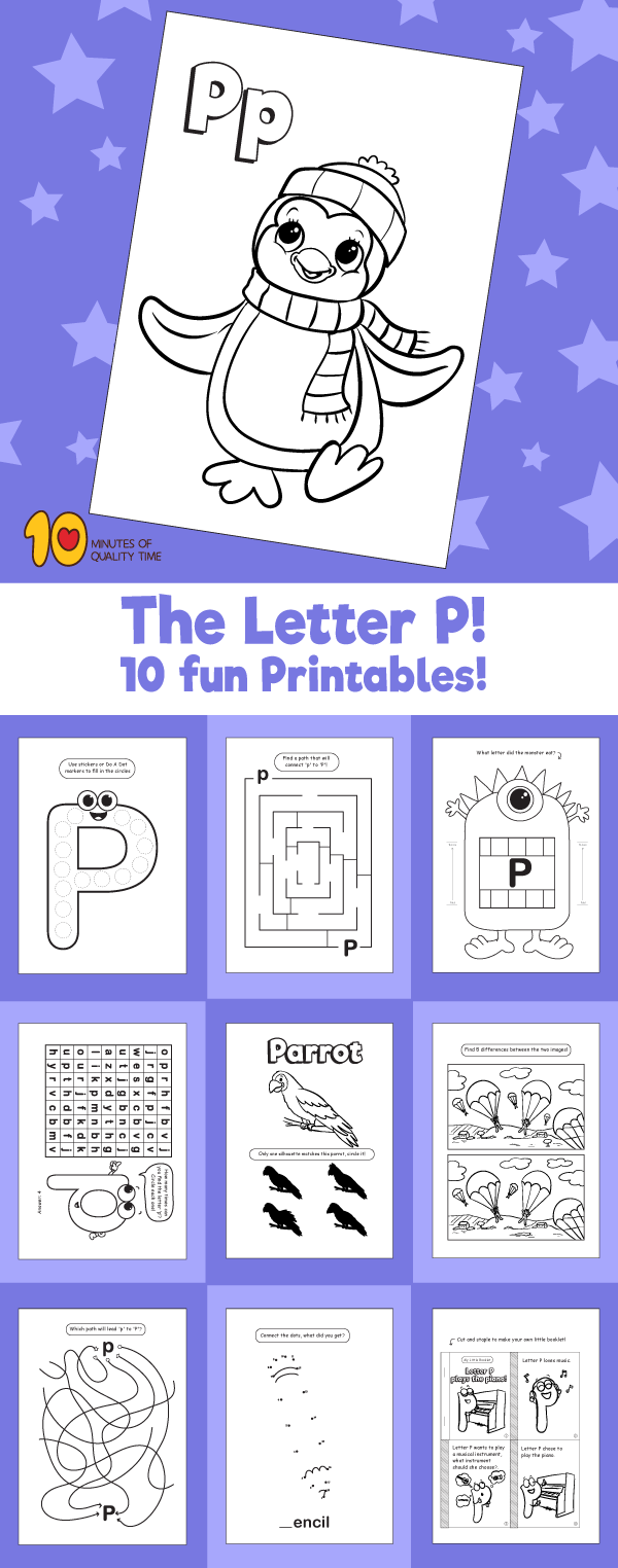 Letter P printable pack