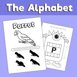 Letter P printable pack