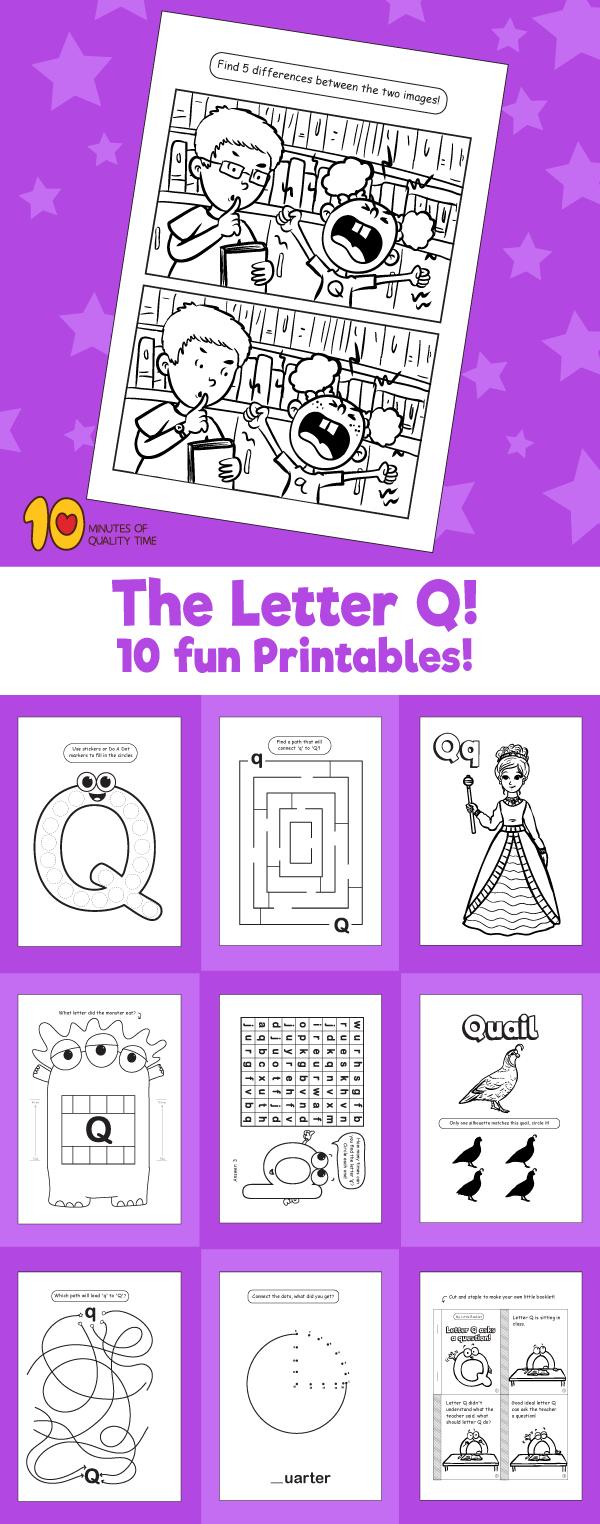 Letter Q printable pack