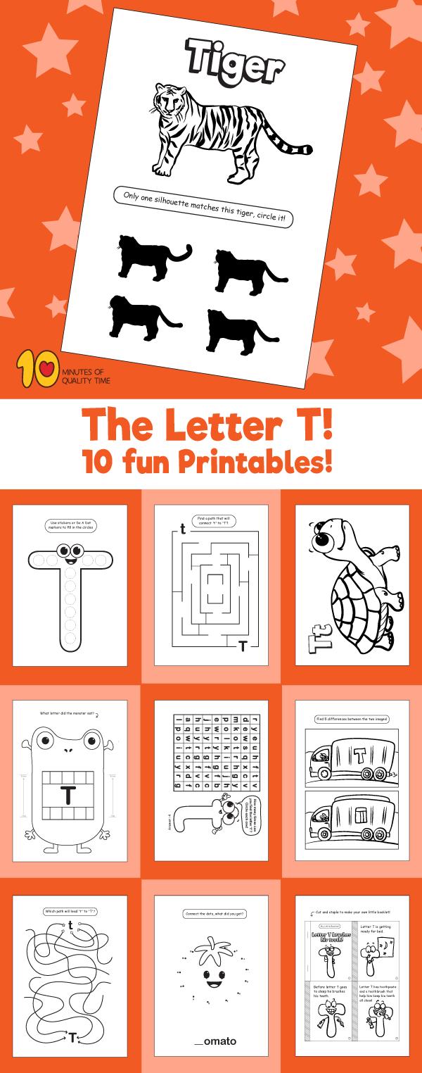 Letter T printable pack