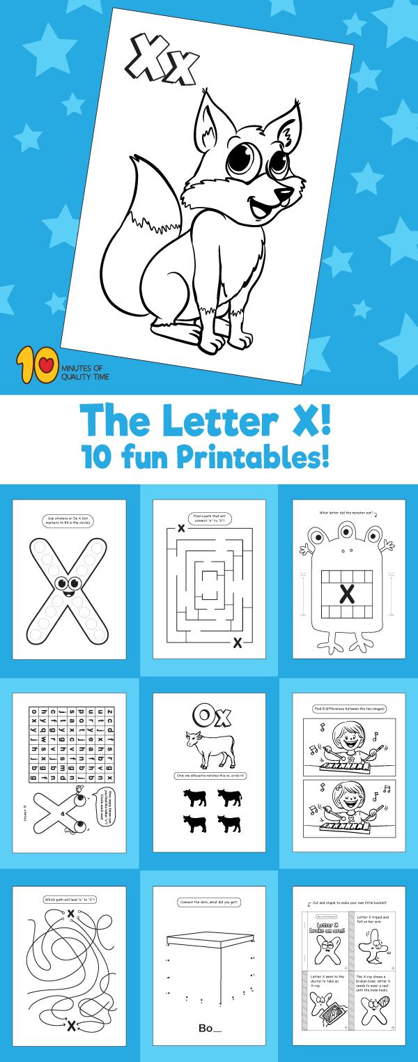 Letter X printable pack