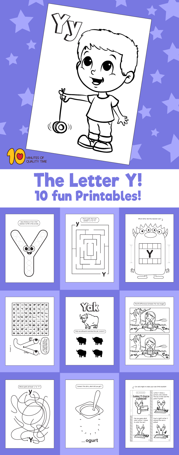 Letter Y printable pack