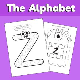 Letter Z printable pack