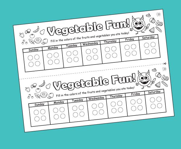 Vegetable Chart for Kids