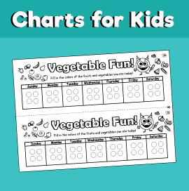 vegetable chart for kids