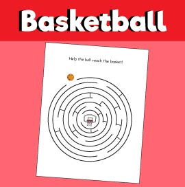 Basketball Maze - Get the Ball to the Basket