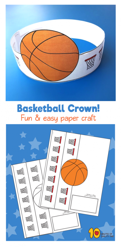 Basketball Paper Crown
