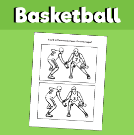 Basketball - Spot the Difference Puzzle