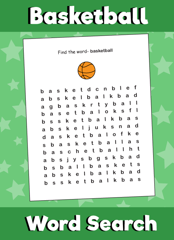 Basketball Word Search Puzzle 10 Minutes Of Quality Time