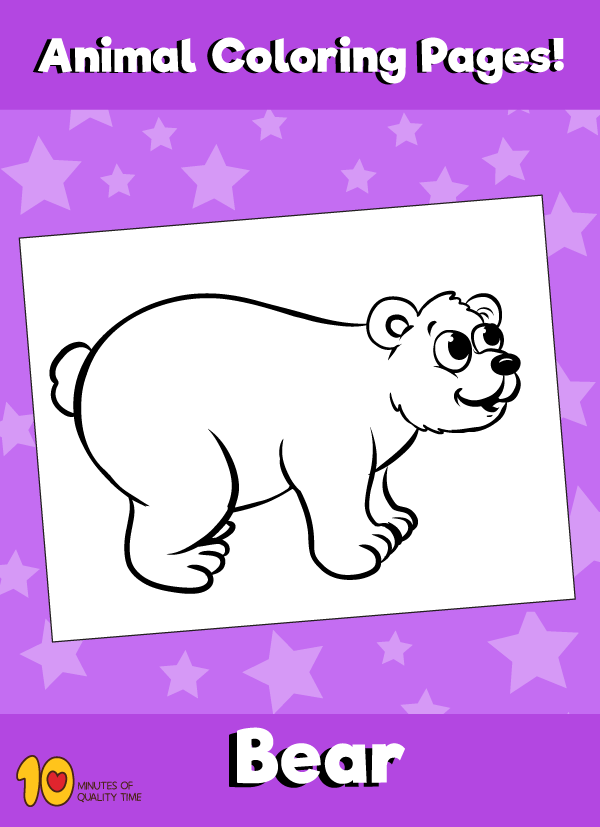 Bear Animal Coloring Pages