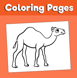 Camel-animal-coloring-pages-