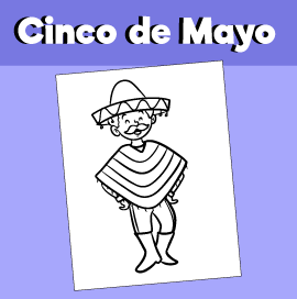 Cinco de Mayo Coloring Page Boy Dancing