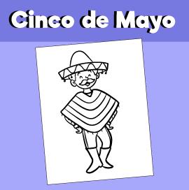 Cinco de Mayo Coloring Page Boy Dancing