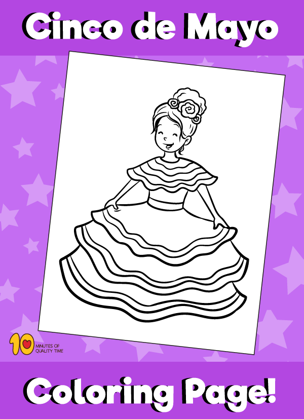 Cinco De Mayo Coloring Pages (from Education.com) | Cinco de mayo ... | 827x600