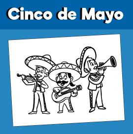 Cinco De Mayo Coloring Page - Mariachi Band