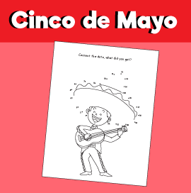 Cinco de Mayo - Dot to Dot Activity