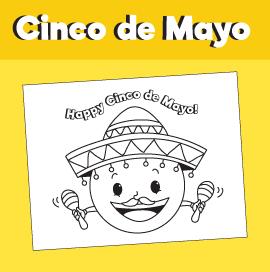 Cinco de Mayo - Emoji Coloring Page