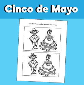 Cinco de Mayo - Spot the Difference