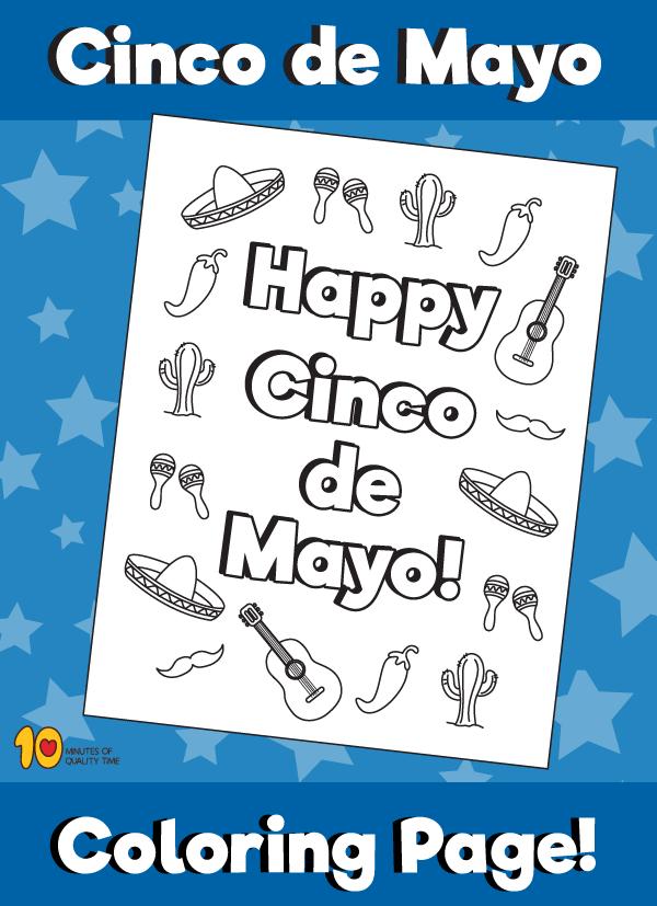 Cinco de Mayo - Symbols Coloring Page