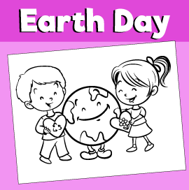 Earth Day Coloring Page - We Love Earth