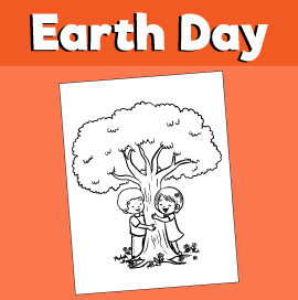 Earth-day-coloring-page-kids-hugging-tree-