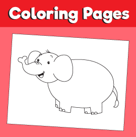 Elephant Coloring Page – Animal Coloring Pages
