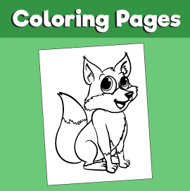 Fox-animal-coloring-pages-