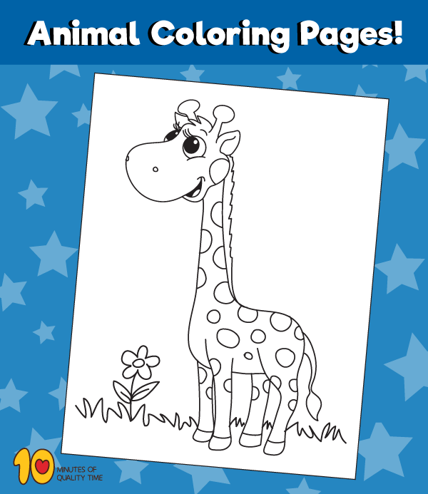 Giraffe-animal-coloring-pages
