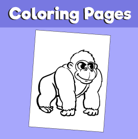 Gorilla-animal-coloring-pages-
