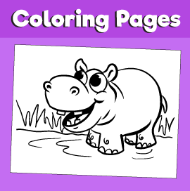 Hippopotamus-animal-coloring-pages-
