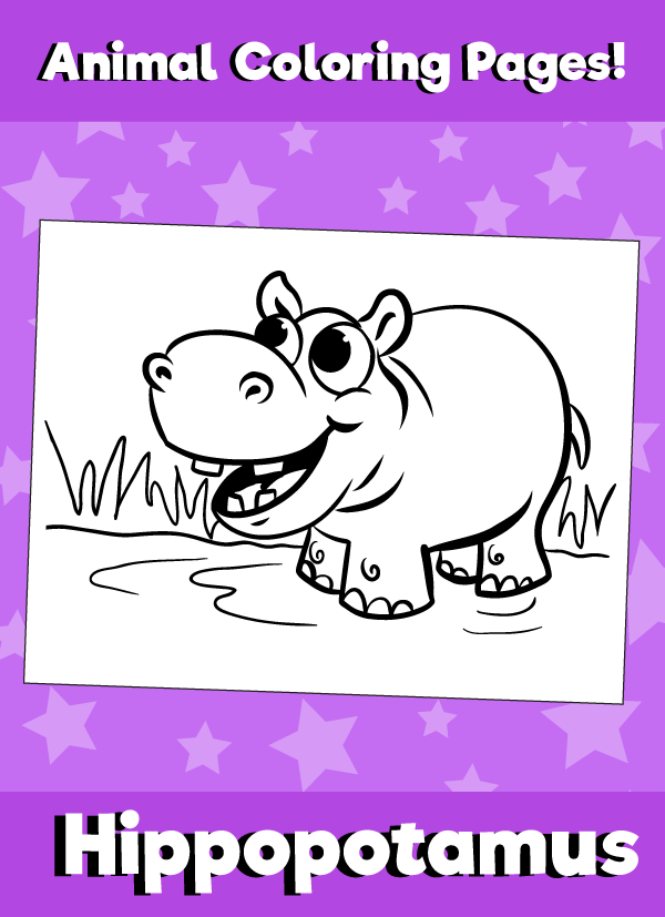 Hippopotamus-animal-coloring-pages