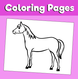 Horse-animal-coloring-pages-