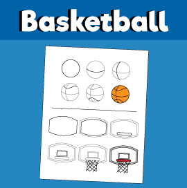 How to Draw a Basketball and Hoop
