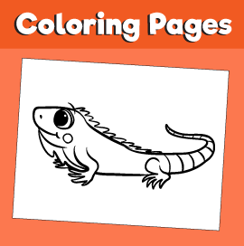 Iguana-animal-coloring-pages