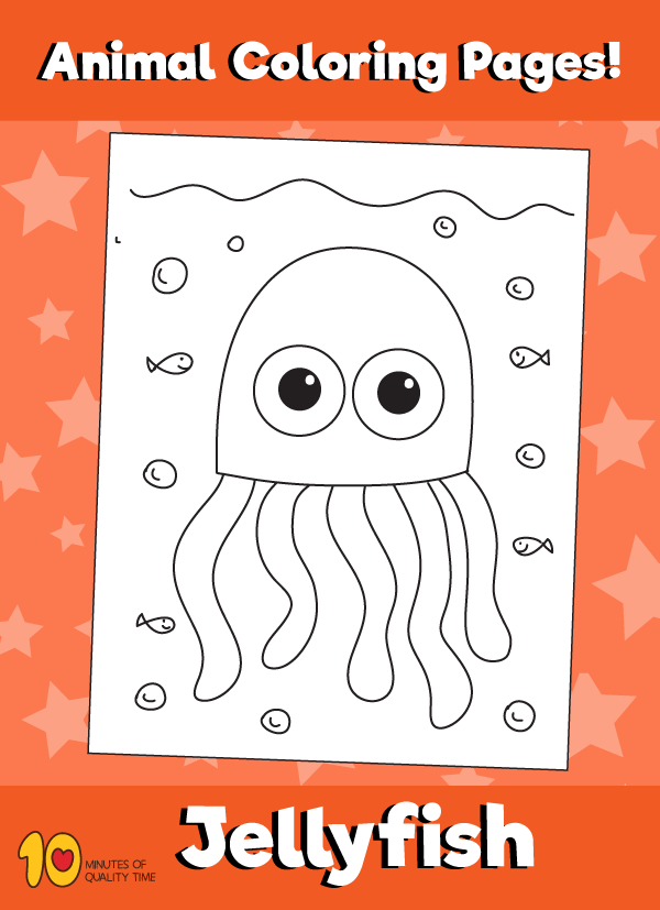 Jellyfish-animal-coloring-pages