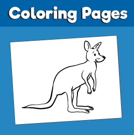 Kangaroo-animal-coloring-pages