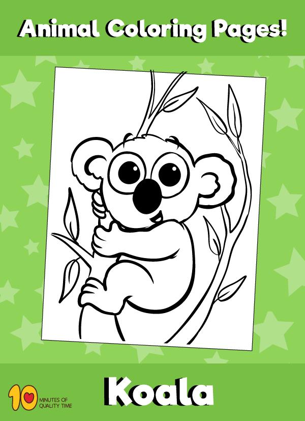 Koala-animal-coloring-pages-
