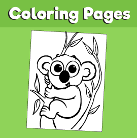 Koala-animal-coloring-pages