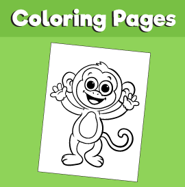 Monkey-animal-coloring-pages-