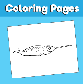Narwhal-animal-coloring-pages